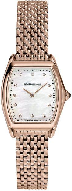 ccfcff80b83 Emporio Armani Men s Swiss Automatic Classic Diamond Accent Rose Gold-Tone   watches  menswatch