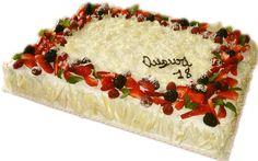 torte con la panna decorate