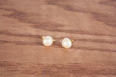 Vintage Fake Pearl Clip-On Earrings