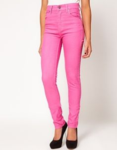 Cheap Monday Second Skin Summer Jeans at ASOS. Skinny Fit Jeans, Versace Handbags, Summer Jeans, Ageless Beauty, Second Skin, Neon Jeans, Jeans Pants, Cheap Monday, High Waist Jeans