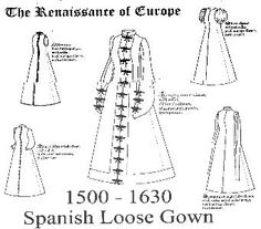 Spanish loose gown 1500s