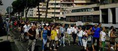 Corteo di protesta contro campo rom di Poggioreale