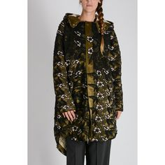 Self-Portrait Lace Parka Jacket ($515) ❤ liked on Polyvore featuring outerwear, jackets, floreal pattern, zip jacket, hooded parka jacket, pattern jacket, hooded parka and zip pocket jacket