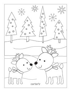 Holiday printable coloring pages