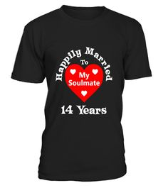 14th Wedding Anniversary T-Shirt Great Gift For Husband