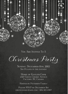 And White Christmas Party Invitations - -Black And White Christmas Party Invitations - - Airplane Birthday - My Oh My The Year Has Flown By! - DIY Printing or Professional Prints Holiday Gold Glitter Ornaments Invitation Christmas Flyer, Christmas Graphics, Elegant Christmas, Christmas Design, White Christmas, Christmas Party Poster, Christmas Posters, Xmas Party, Christmas Images