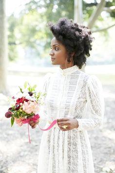 17 Natural Hairstyles for Natural Hair Brides - Munaluchi Bridal Magazine