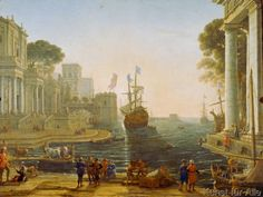 Claude Lorrain - Odysseus übergibt Chryseis ihrem Vater