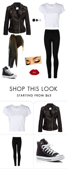 """""""Outfit I Wore For My Dance"""" by laurenbrgr ❤ liked on Polyvore featuring RE/DONE, Anine Bing, Wolford, Converse and BERRICLE"""