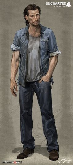 Sam Drake from Uncharted