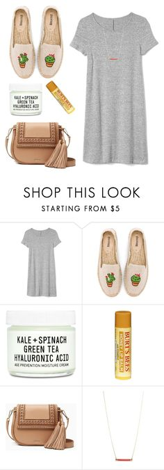 """""""Baby You're Like Lightnin' in a Bottle"""" by lightandsalvation-psalm27-1 ❤ liked on Polyvore featuring Gap, Soludos, Youth To The People, Burt's Bees, Kate Spade and shirtdress"""