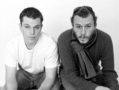 so much clean/scruff [Matt Damon, Heath  Ledger]