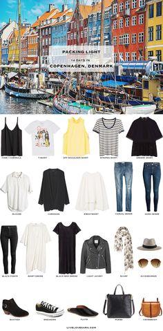What to Pack for Copenhagen Denmark Packing Light List #packinglist #packinglight #travellight #travel #livelovesara