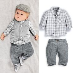 17.19$  Watch now - http://alihr9.shopchina.info/go.php?t=32764624562 - Baby boys clothing set conjuntos para bebes 3pcs suit gentleman baby clothes boys newborn baby boy clothes infant clothing 17.19$ #magazineonlinebeautiful