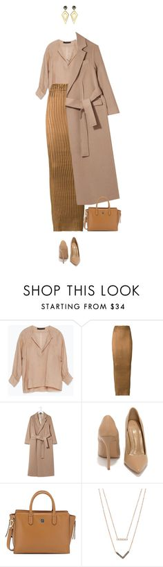 """""""Camel dreams !"""" by azzra ❤ liked on Polyvore featuring Zara, Iris van Herpen, Boutique, Shoe Republic LA, Tory Burch, Michael Kors, Sarah Magid and HolidayParty"""
