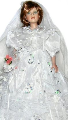 Bride Porcelain Doll-Stunning Bride doll-Porcelain Bride Doll-Brooke