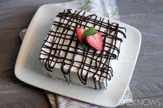 No-bake chocolate and strawberry icebox cake
