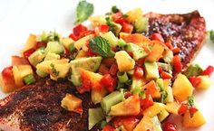 GRILLED AVOCADO & PEACH SALSA: Just in time for Labor Day Weekend, fire up the grill and make this 5-ingredient Grilled Salsa. You are sure to be a culinary hero at your final summer shindig!