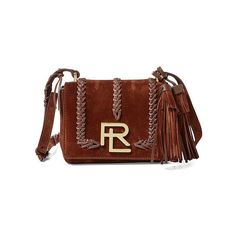 Ralph Lauren Whipstitched Suede Mini Rl Bag (€1.555) ❤ liked on Polyvore  featuring. Suede HandbagsBrown ...