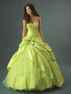 wedding dresses green color