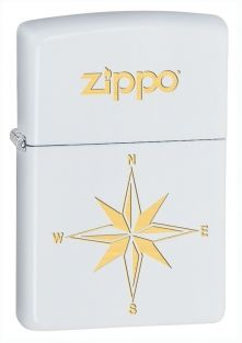 Star Zippo lighter now available from Zippo UK now only White Matte. Packaged in an environmentally friendly gift box.