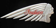 Indian Motorcycle logo. America's first motorcycle, 1901-1953