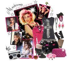 Remera estampada, cruces, collar, estrellas... La influencia de los 80 llega hasta el día de hoy.  Qué opinan, chicas? ★☆  #LargavidaalaReina #look #Polyvore #Madonna #collage #fashioncollage #80s #moda #love #estilo en JL @ #BsAs