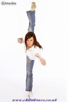 Chloe Bruce...Taekwondo princess known for her scorpion kick