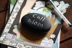 Chalkboard Paper Weight  Natural Beach Stone School by OneDecember, $7.50