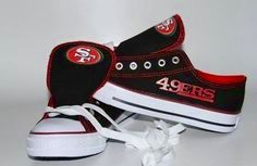 Woman's Swagger Team San Francisco Shoes Red and Black / Bargain Kings Quest for Six 49er Shoes, Football Shoes, Football Stuff, Forty Niners, Sf Niners, Converse High Heels, 49ers Fans, Best Football Team, Sporty Girls