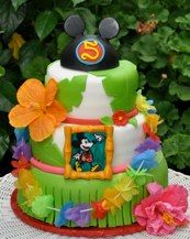 Mickey Mouse Luau Cake Nadia Horner Minnie Party