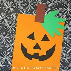 Jack-o-lantern Kid Craft Idea - Halloween Idea w/free printable template