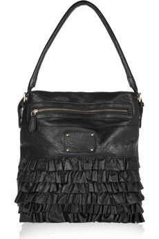Frilled leather bag  by Lily and Lionel