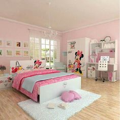 Minnie mouse theme for girls bedroom