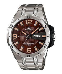 CASIO EDIFICE ANALOGO CON SEGUNDERO Relogio Casio Edifice, Fitness Watch, Seiko Watches, Leather Watch Bands, Watch Brands, Casio Watch, Cool Watches, Chronograph, Omega Watch