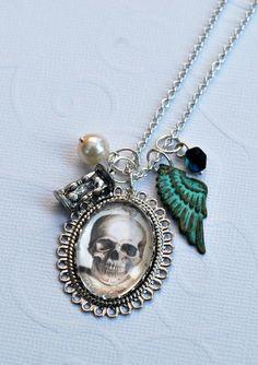 * Memento Mori Necklace ~ Shop: The Bat in the Hat *