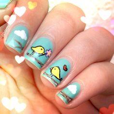 valentine by pamelapomelo #nail #nails #nailart