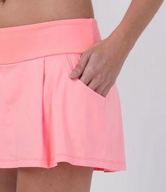 Short Saia Esportivo Feminino - Lojas Renner Tennis Skirts, Sports Skirts, Tennis Clothes, Shirt Extender, Running Skirts, Moda Fitness, Golf Outfit, Sport Wear, Fitness Fashion