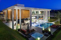 The Botucatu House by FGMF Arquitetos in Botucatu, Brazil is a contemporary…
