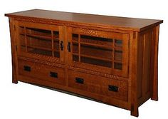 Amish HANDCRAFTED Mission Style Entertainment Stand / TV Stand