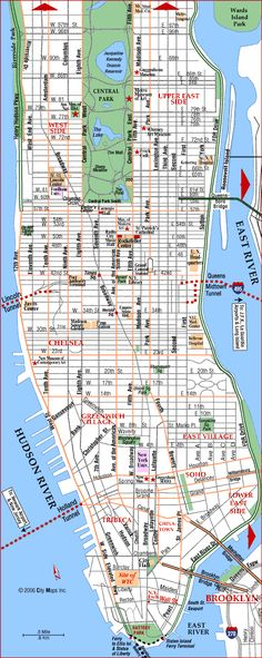 map of manhattan island