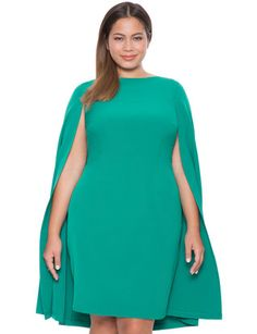 View our Studio Cape Dress and shop our selection of designer women's plus size Dresses, clothing and fashionable accessories. Plus Size Wedding Dresses With Sleeves, Plus Size Dresses, Plus Size Outfits, Cape Dress, New Dress, Curvy Fashion, Plus Size Fashion, Fashion Men, Dress Outfits