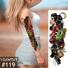 New 1 Piece Temporary Tattoo Sticker old school Full Flower Tattoo with Arm Body Art Big Large Fake Tattoo Sticker Retro Tattoos, Fake Tattoos, Great Tattoos, Temporary Tattoos, Body Art Tattoos, Girl Tattoos, Tattoos Pics, Awesome Tattoos, Beautiful Tattoos