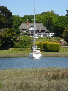 """vwcampervan-aldridge:  """" Thatched house overlooks yachts in Beaulieu River, New Forest Hampshire  All Original Photography by http://vwcampervan-aldridge.tumblr.com  """""""