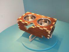 dog bowl stand  feeder by TheCharlestonFabLab on Etsy, $60.00