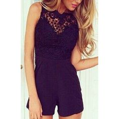 Wholesale Sexy Round Neck Sleeveless Spliced Backless Solid Color Women's Jumpsuit Only $8.78 Drop Shipping | TrendsGal.com