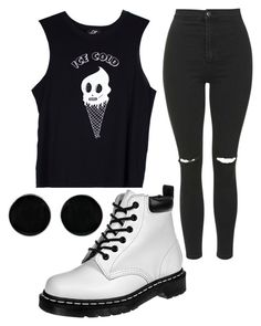 """""""Untitled #1060"""" by pinkunicorn007 ❤ liked on Polyvore featuring Dr. Martens, Valfré, Topshop and AeraVida"""