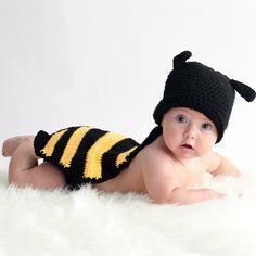 Disfraz abeja para bebé hecho a mano. Para sesiones de fotos. Para fotógrafos.