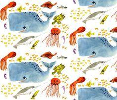 crib sheet in underwater friends organic crib by lovemaedesigns