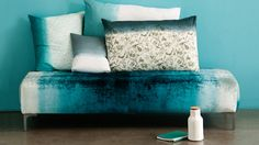 Oh how we love Ombre! Just look at our gorgeous Kaati ottoman upholstered in a stunning turquoise ombre velvet! DIVINE!!